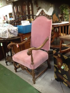 Rose Velveteen Upholstered Side Chair, Original Price $150 - now 40% Off
