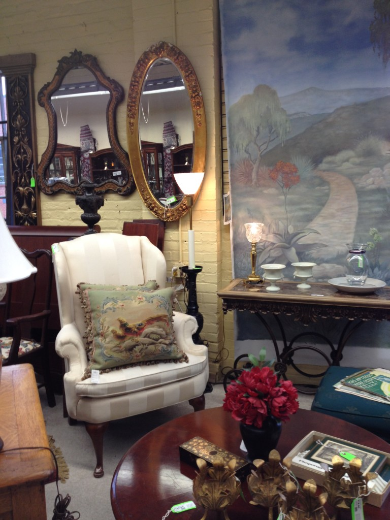 Mirrors, Tapestry Pillows, Marble Top Tables